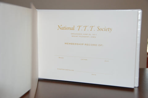 Membership Record Book (Signature & current status)