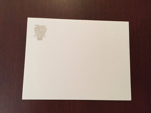 Folded Notes and Envelopes - Coat of Arms - Set of 5