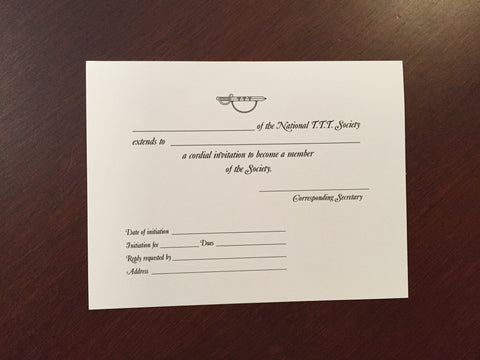 Invitation For Membership (Envelope Included)