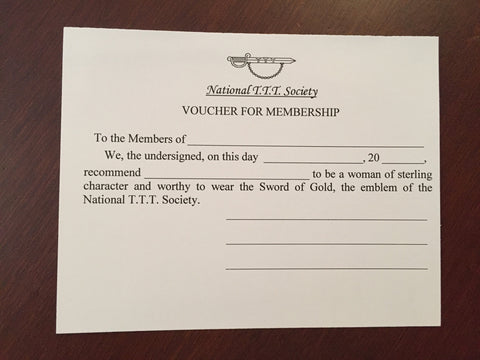Membership Voucher (For proposal of new member)