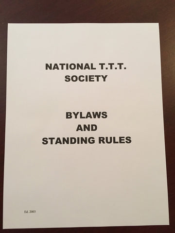 Bylaws and Standing Rules