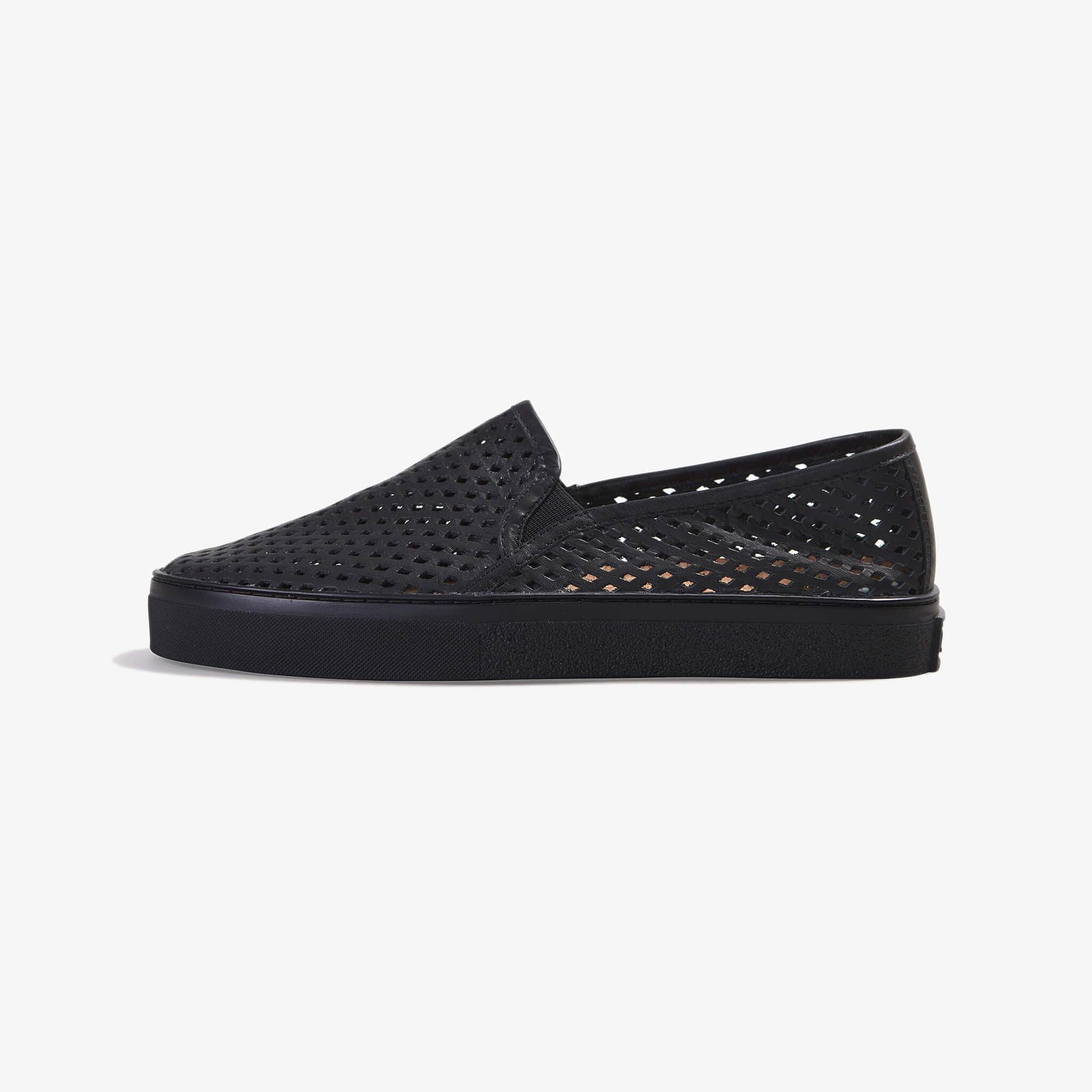 Jibs Classic Jet Black Royale Slip On Sneaker-Shoe Side