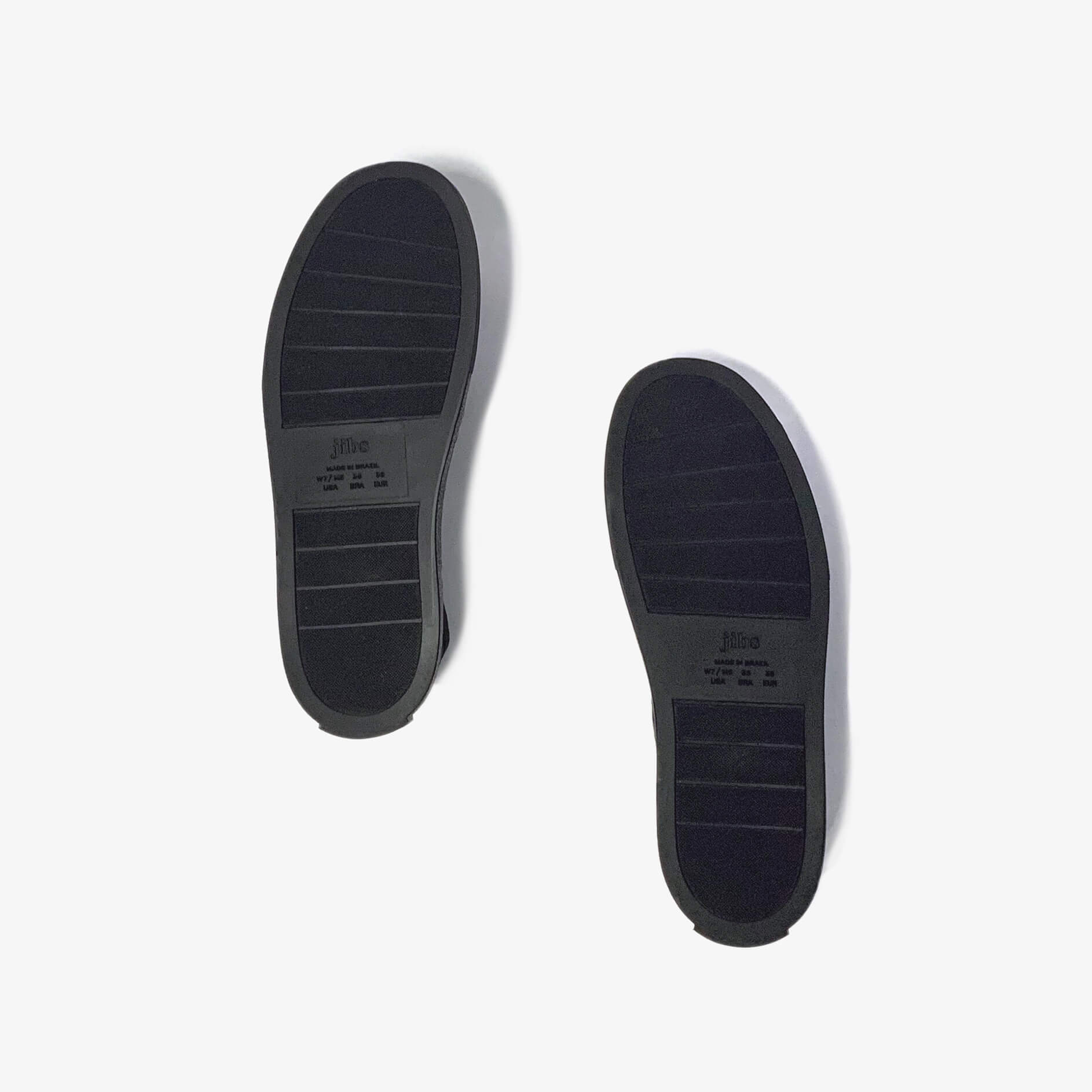 Jibs Mid Rise Jet Black Royale Slip On Sneaker Recycled Rubber Sole