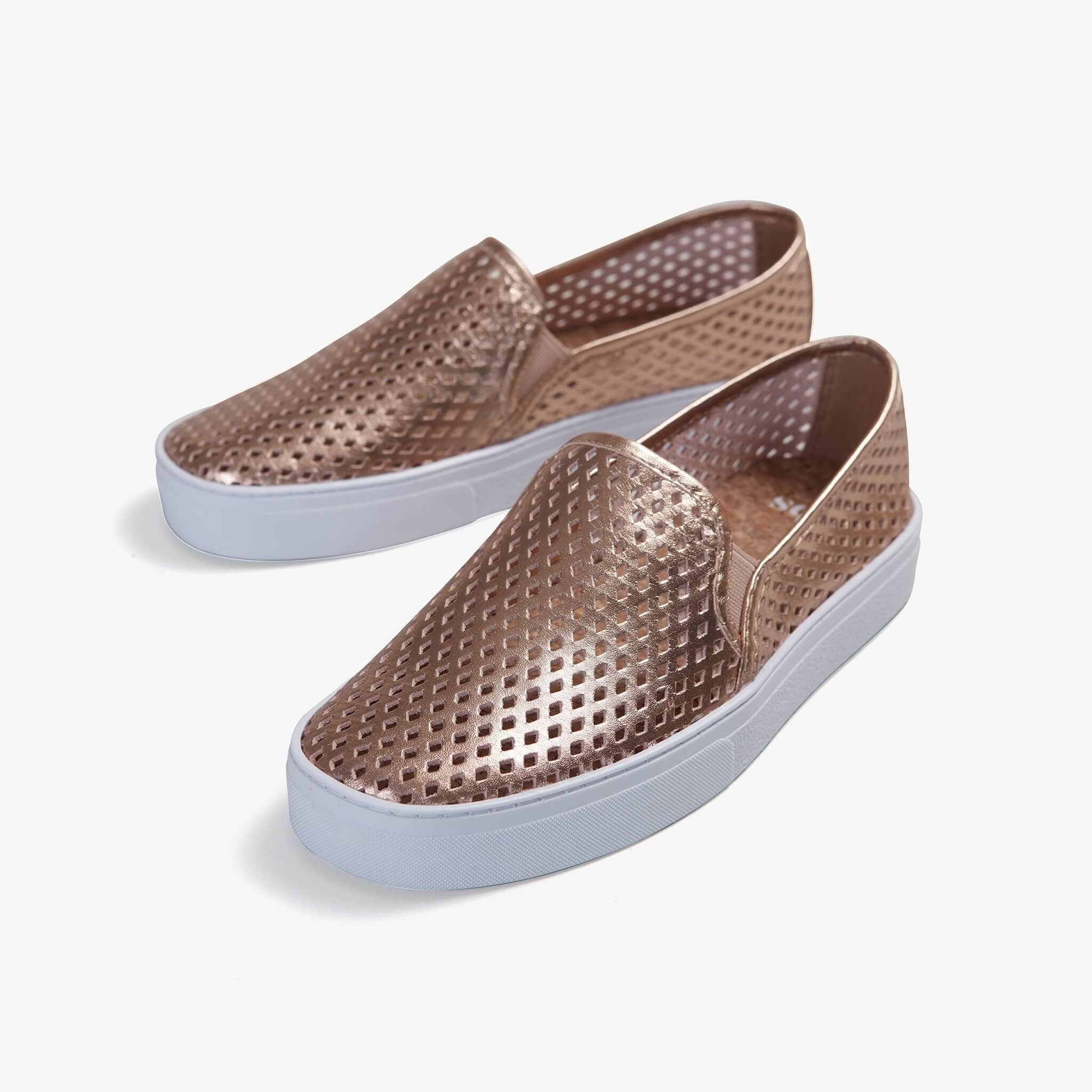 Jibs Classic Rose Gold Slip On Sneaker-Shoe