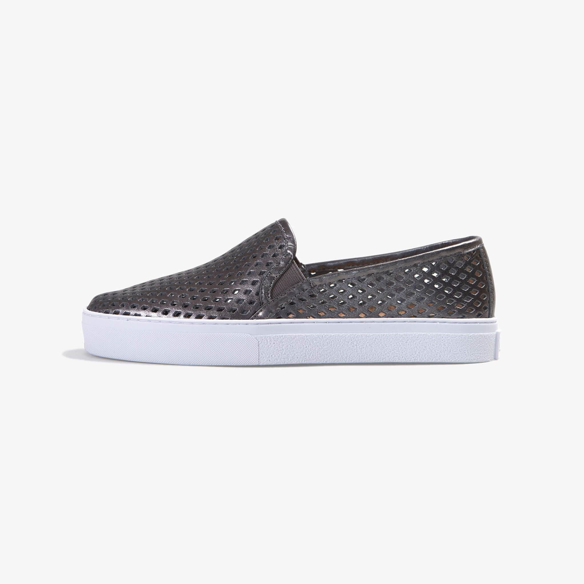 Jibs Classic Space Gray Slip On Sneaker-Shoe Side