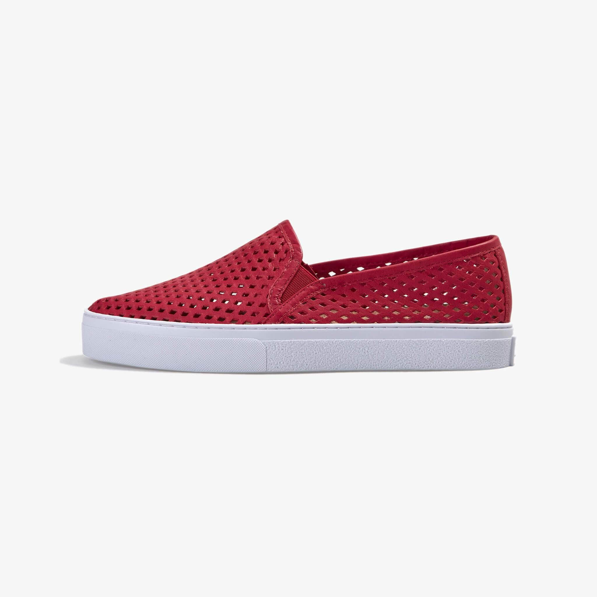 Jibs Classic True Red Slip On Sneaker-Shoe Side