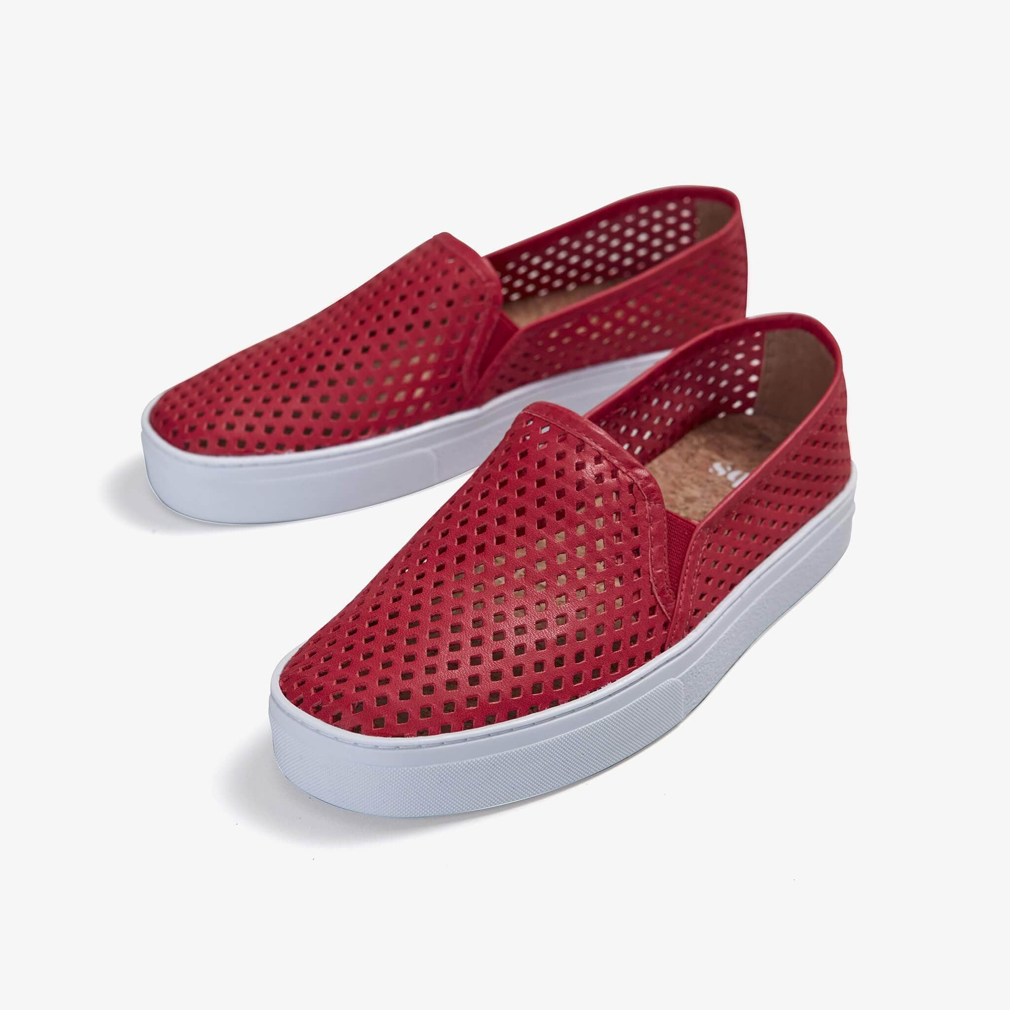 Jibs Classic True Red Slip On Sneaker-Shoe