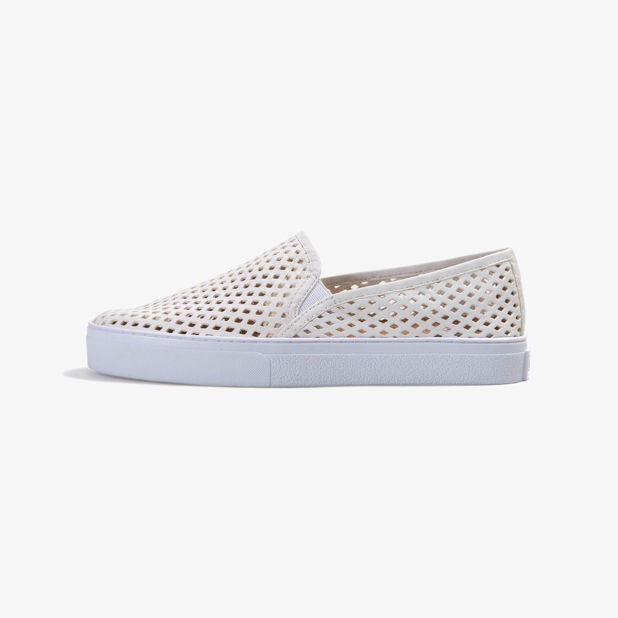 JIbs Classic Soft White Slip On Sneaker-Shoe Shoe Side