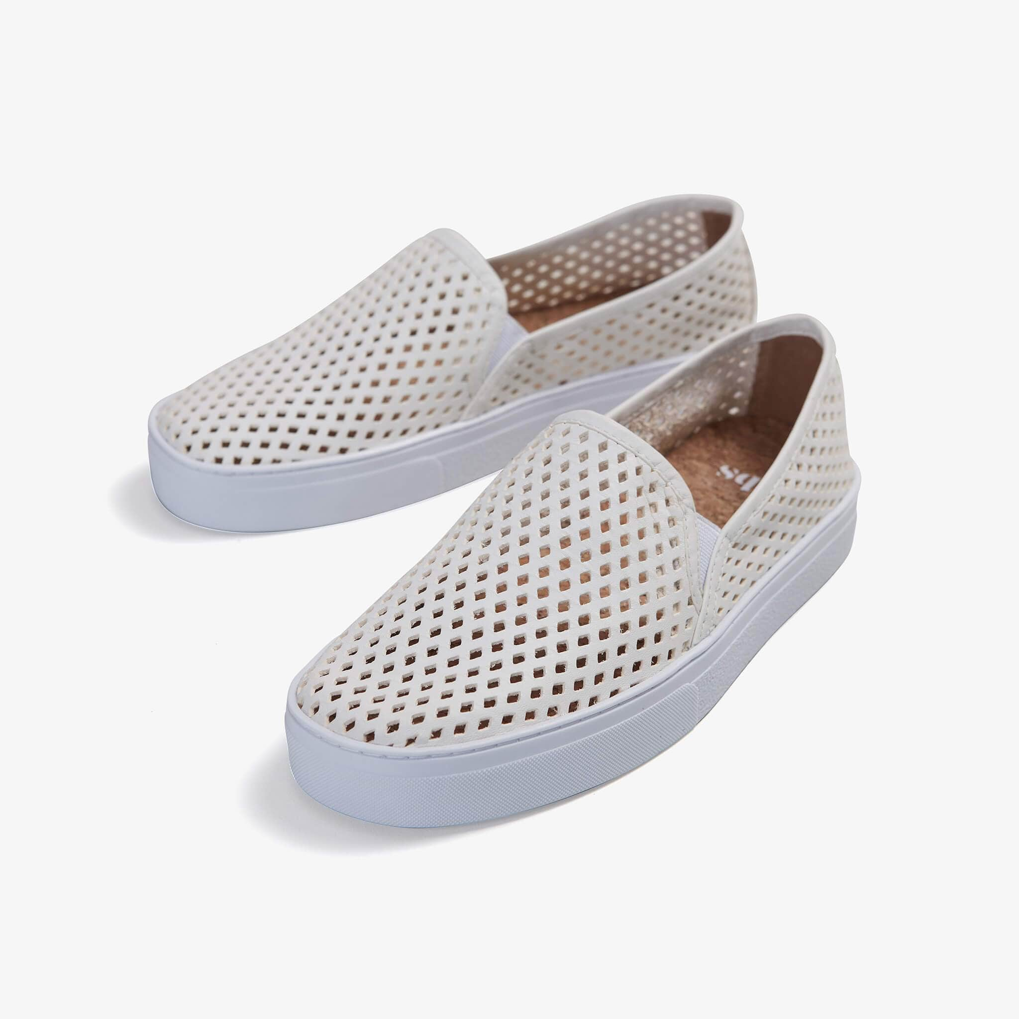 JIbs Classic Soft White Slip On Sneaker-Shoe
