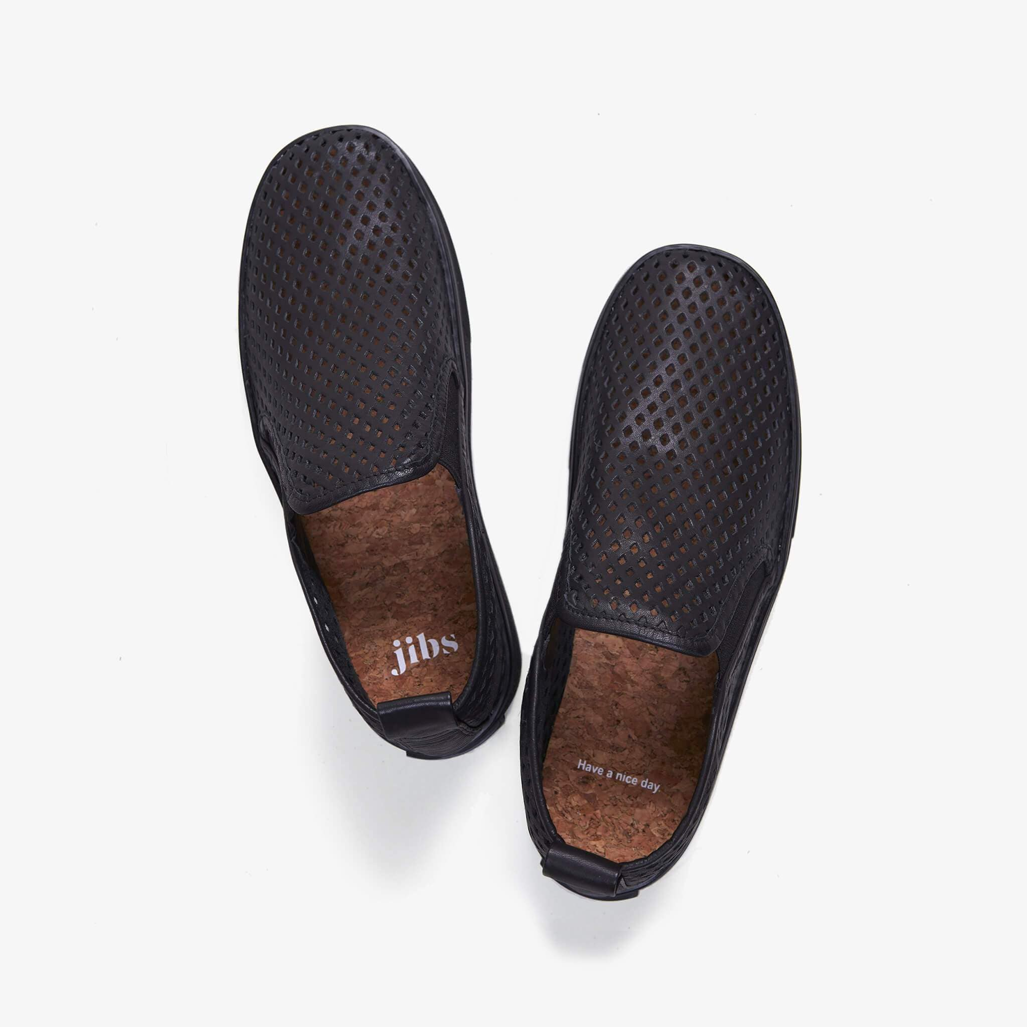 Jibs Mid Rise Jet Black Royale Slip On Sneaker Bootie Top Have A Nice Day