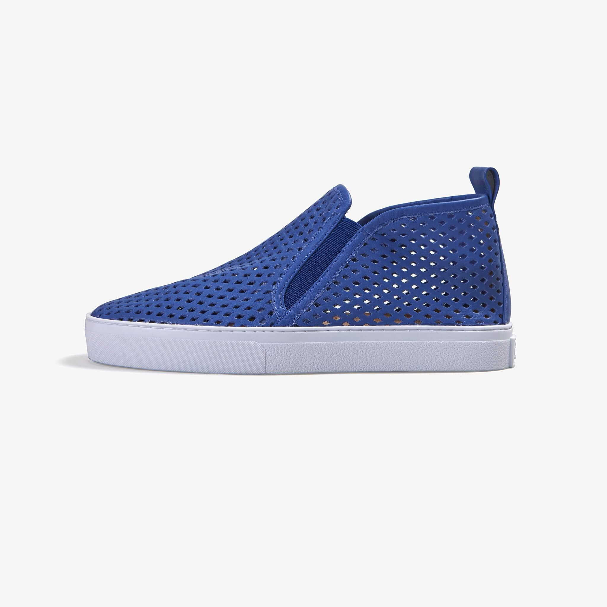 Jibs Mid Rise Galaxy Blue Slip On Sneaker Bootie Side