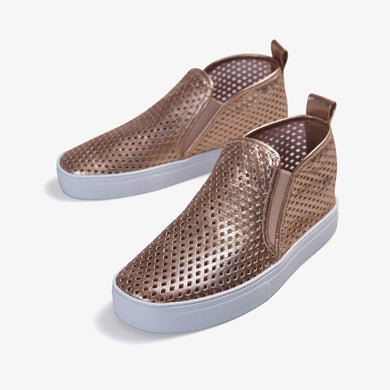 Jibs Mid Rise Rose Gold Slip On Sneaker Bootie