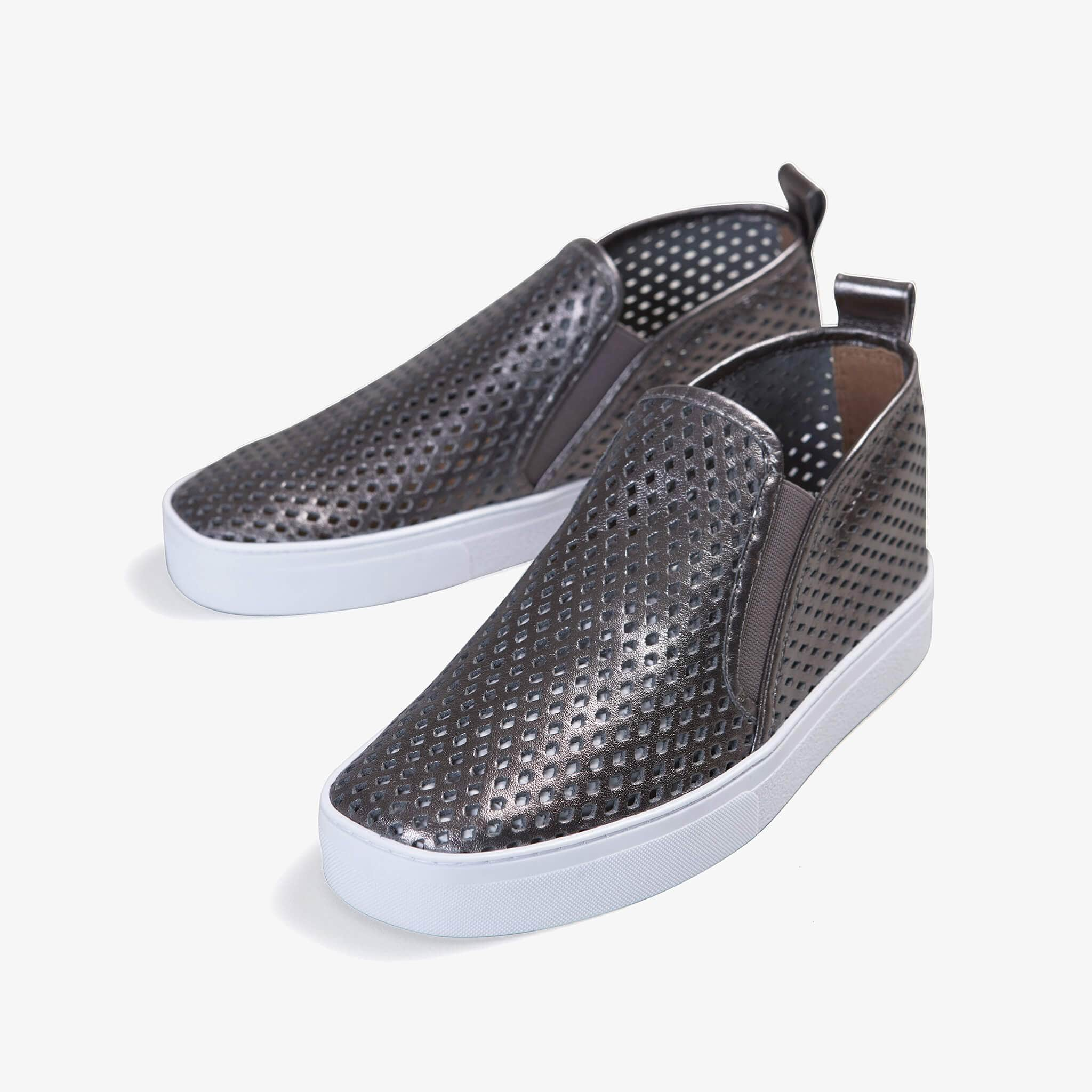 Jibs Mid Rise Space Gray Slip On Sneaker Bootie