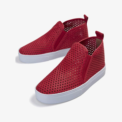 Jibs Mid Rise True Red Slip On Sneaker Bootie