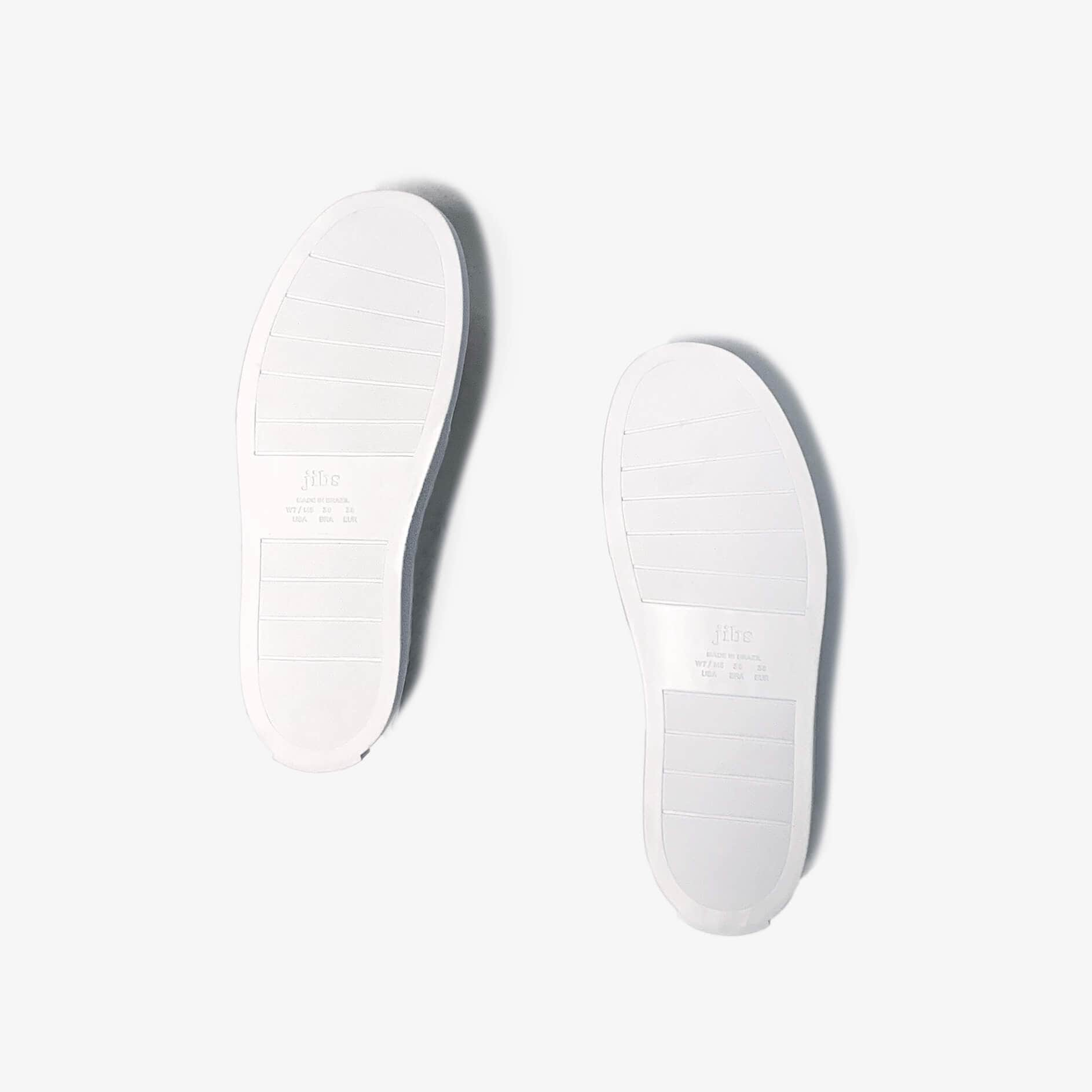 Jibs Mid Rise Silver Slip On Sneaker Recycled Rubber Sole