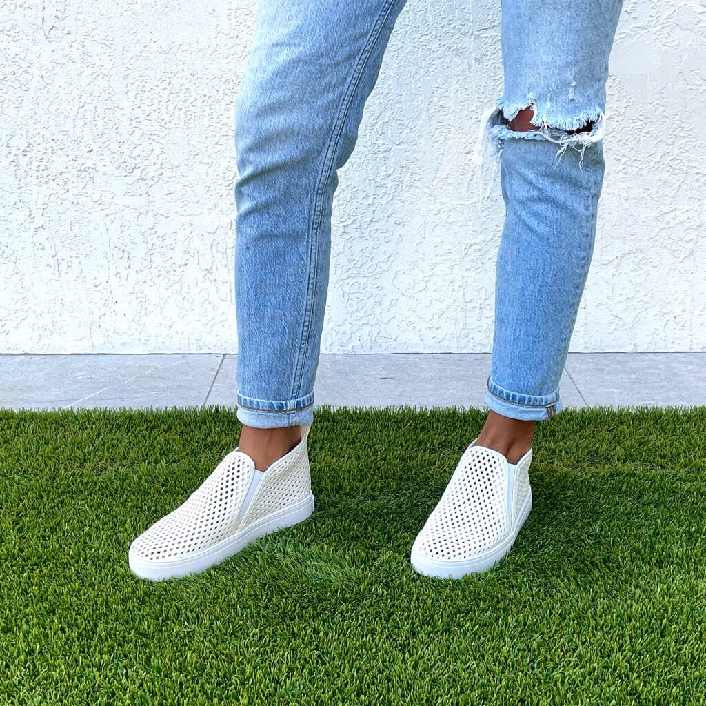 Jibs Mid Rise Soft White Slip On Sneaker Bootie Outdoors Womens
