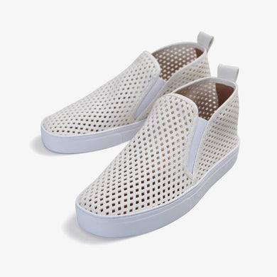 Jibs Mid Rise Soft White Slip On Sneaker Bootie