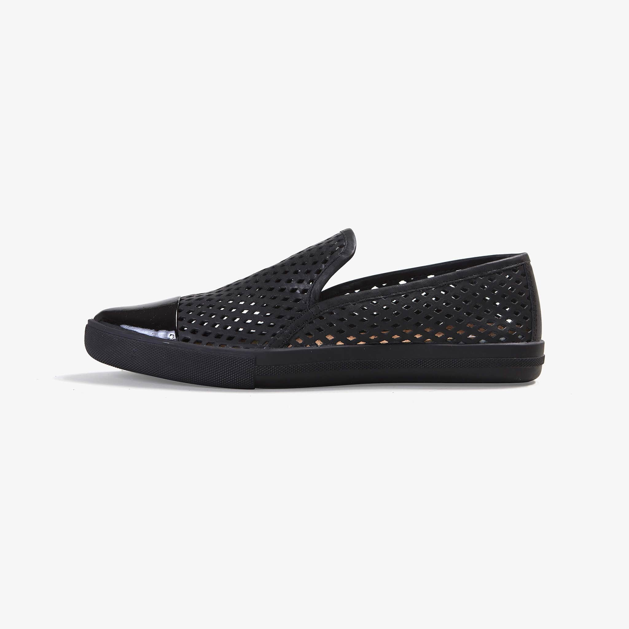 Jibs Slim Jet Black Royale + Onyx Slip On Sneaker Flat Shoe Side