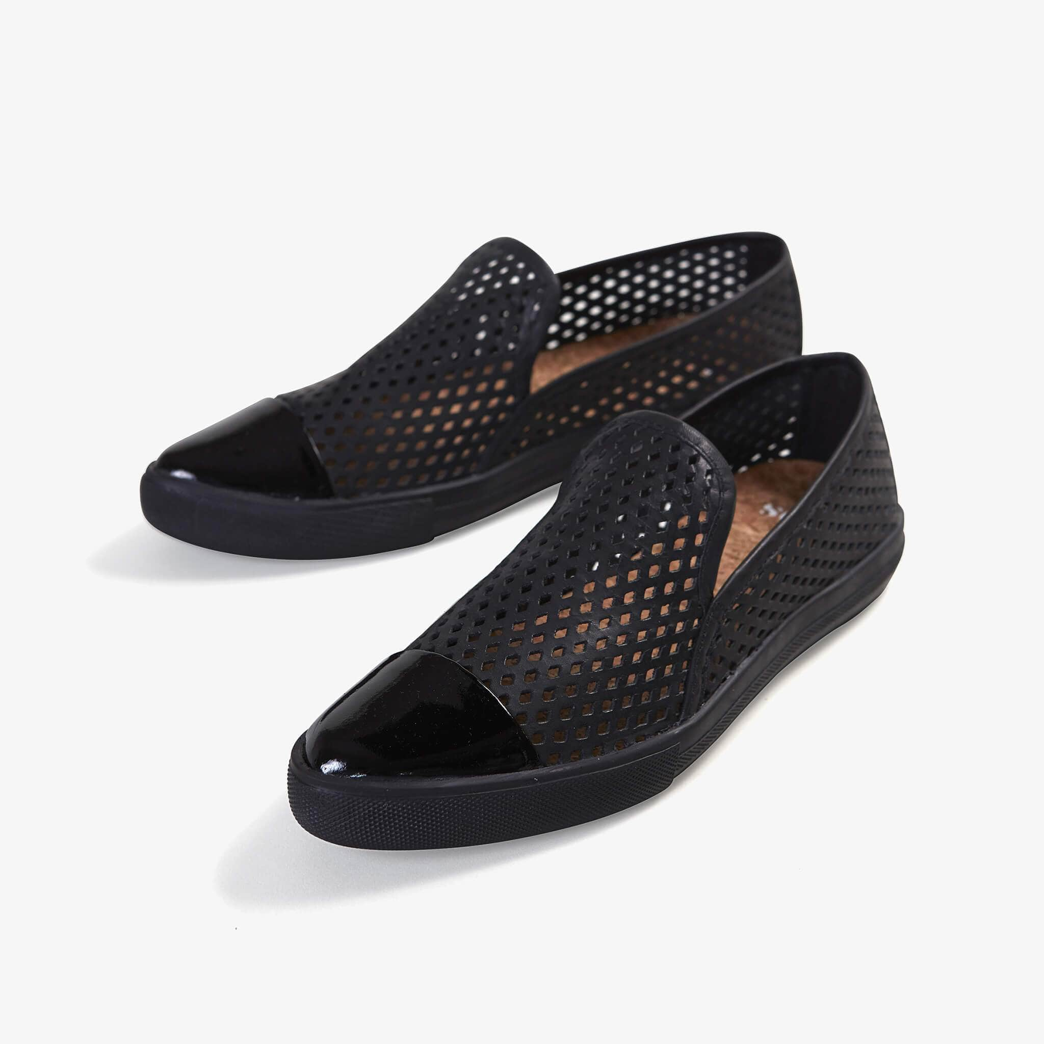Jibs Slim Jet Black Royale + Onyx Slip On Sneaker Flat Pair
