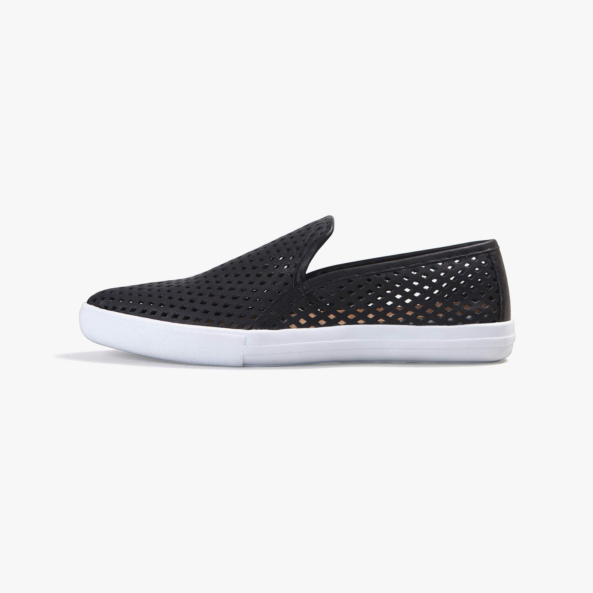 Jibs Slim Jet Black Slip On Sneaker Flat Shoe Side