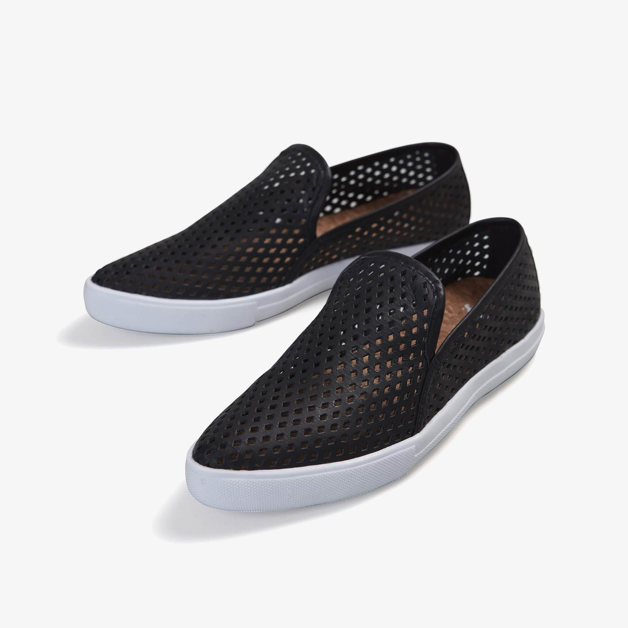 Jibs Slim Jet Black Slip On Sneaker Flat Pair
