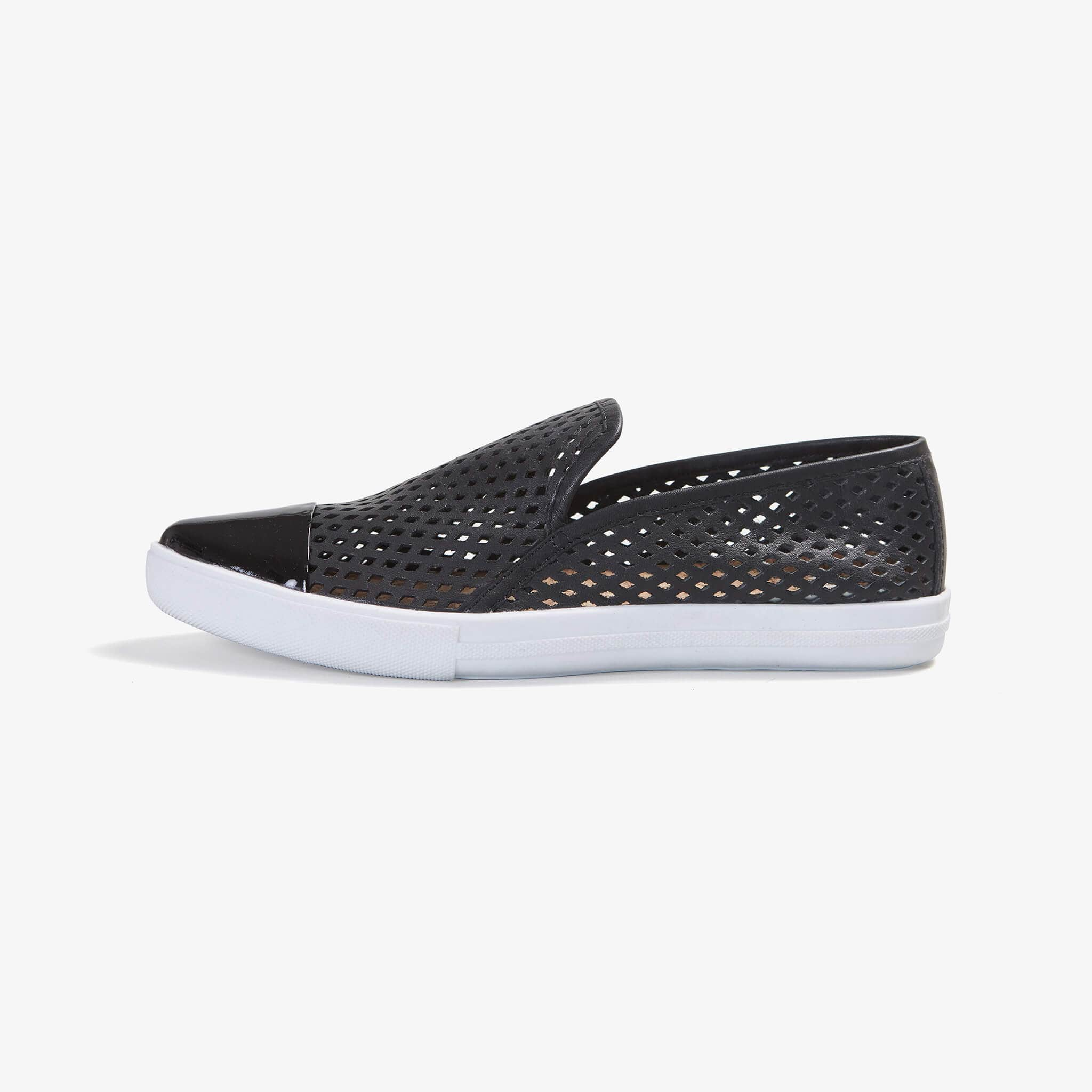 Jibs Slim Jet Black + Onyx Slip On Sneaker Flat Shoe Side