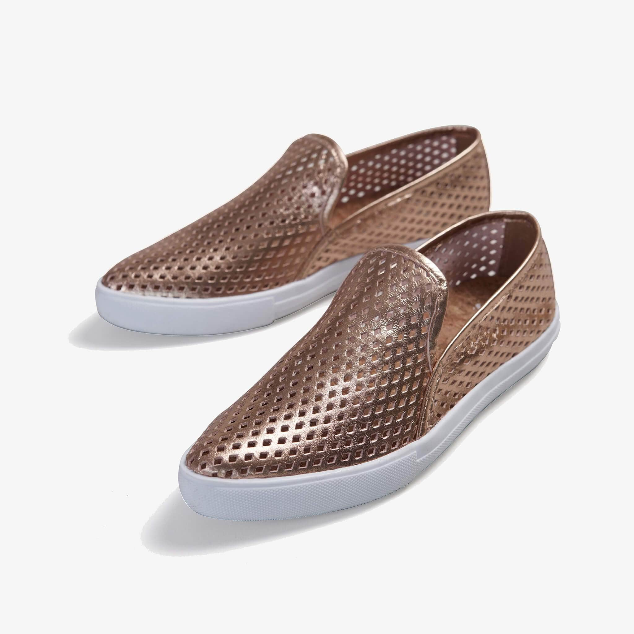 Jibs Slim Rose Gold Slip On Sneaker Flat Pair