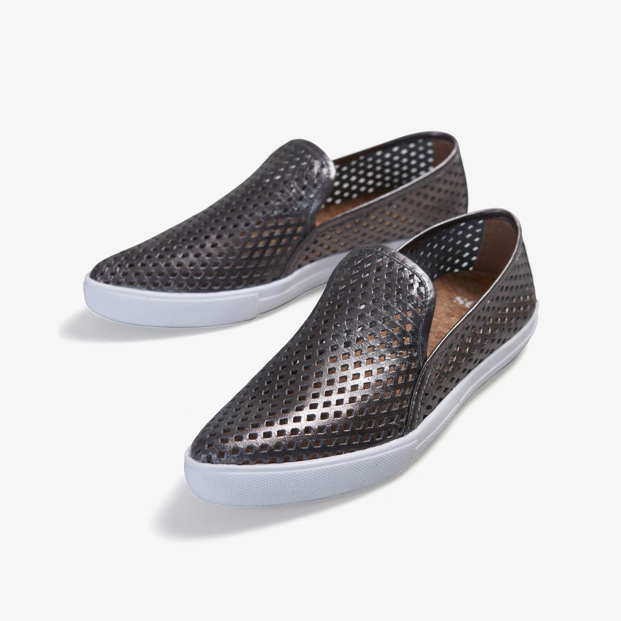 Jibs Slim Space Gray Slip On Sneaker Flat Pair