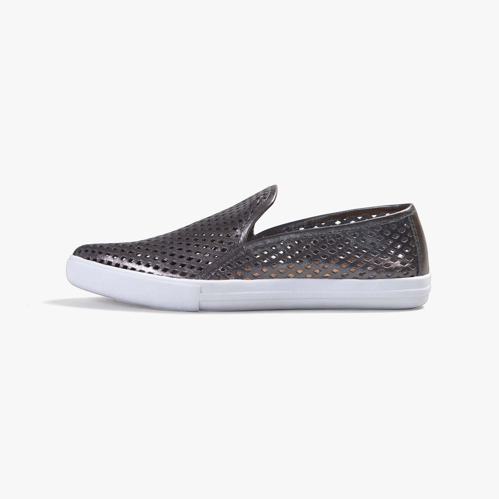 Jibs Slim Space Gray Slip On Sneaker Flat Shoe Side