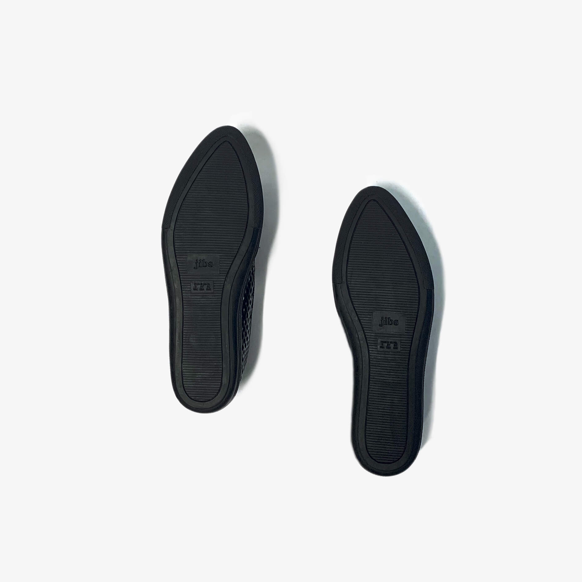Jibs Slim Jet Black Royale + Onyx Slip On Sneaker Recycled Rubber Sole