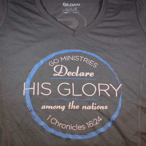 """Declare his Glory"" Ladies Performance Tee"