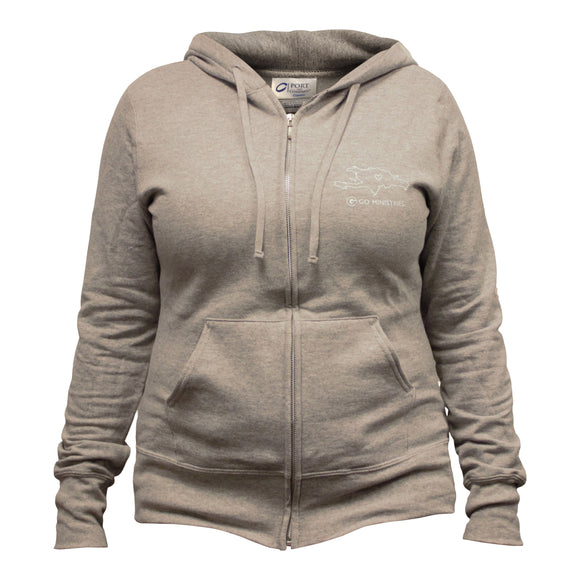 GO Women's Light Grey Hoodie