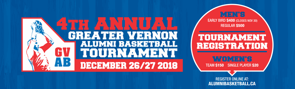 2018 Greater Vernon Alumni Basketball Tournament Registration