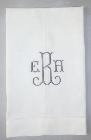 Made to Order Shirley Font Linen Hand Towel