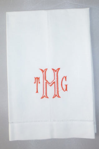 Made to Order Leslie Font Linen Hand Towel