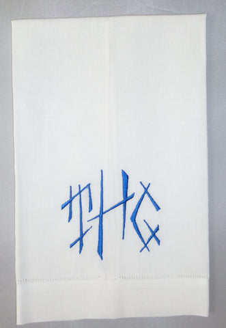Made to Order Chinoise Font Linen Hand Towel