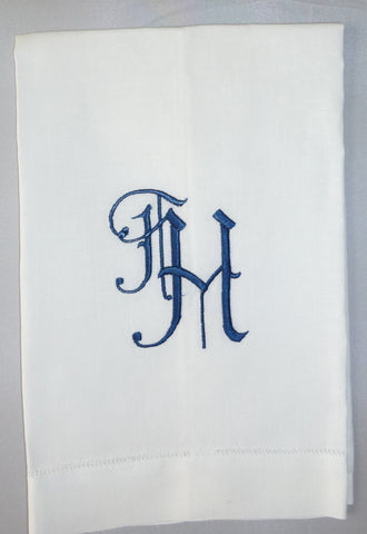 Made to Order Teresa Font Linen Hand Towel