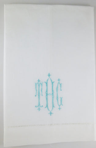 Made to Order Royal Font Linen Hand Towel