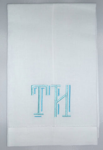 Made to Order Reagan Font Linen Hand Towel