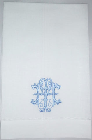 Made to Order Antique Font Hemstitched Hand Towel