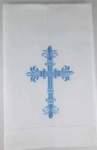 Made to Order Cross Design Linen Hand Towel