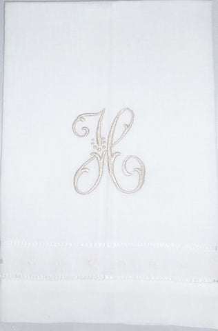 Made to Order Caroline Font Linen Hand Towel