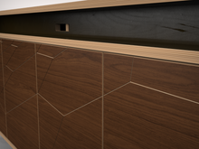 AV Console - soundbar recess + door detail