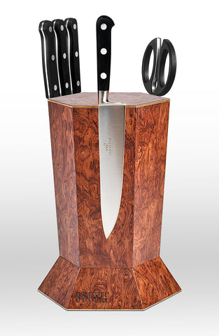 360 Knife Block - Bubinga Pomele
