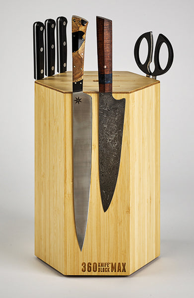 360 Knife Block MAX - Blonde Bamboo LIMITED EDITION