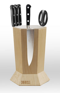 360 Knife Block - Maple - Temporarily SOLD OUT