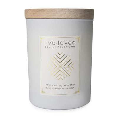 SOULFUL ADVENTURES | Live Loved Candle 11 oz Candle With Wood Lid