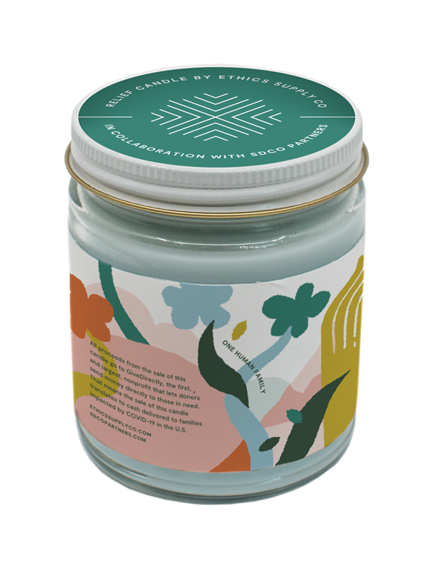 GiveDirectly Relief Travel Candle