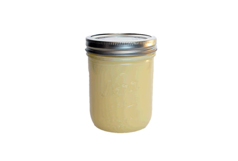 Organic Grass Fed Tallow -- 1 pint mason jar, 14 oz