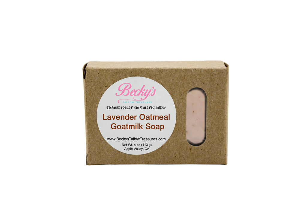 Lavender Oatmeal Goat Milk Body Soap